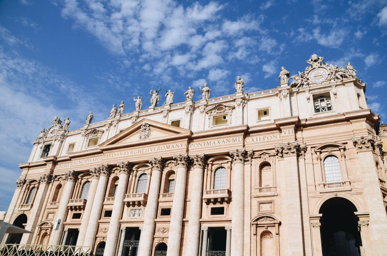 Photo of the Vatican facade in Rome