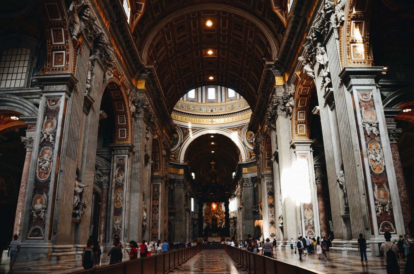 Photo from the inside of Vatican in Rome