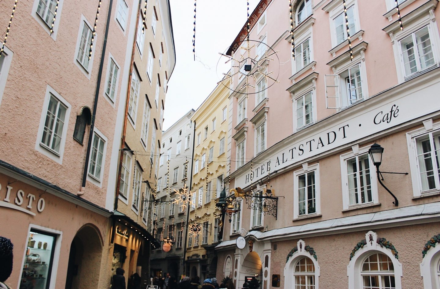 The decorated streets of Salzburg, Austria