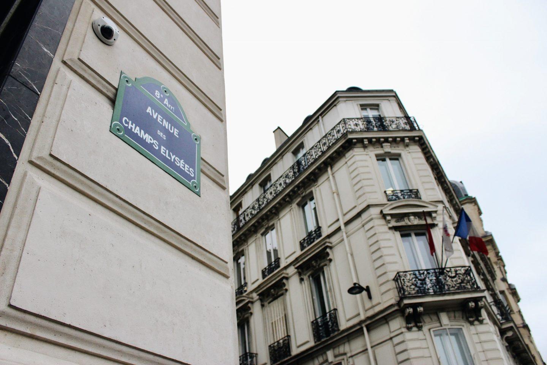 Strolling down the famous Avenue des Champs-Elysées during a weekend in Paris