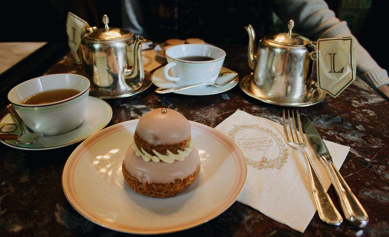 Tea time at Laduree during a weekend in Paris