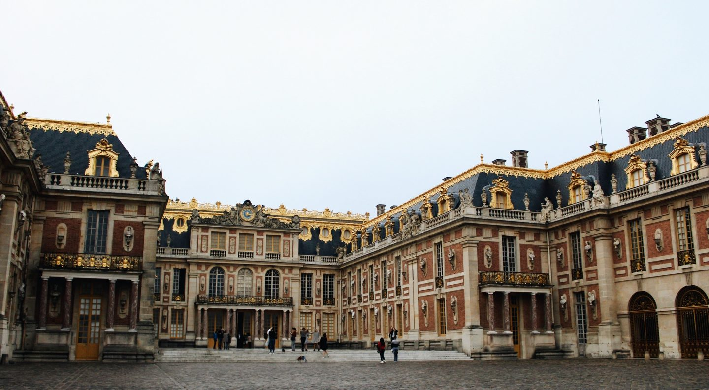 The Palace of Versailles outside of Paris, France
