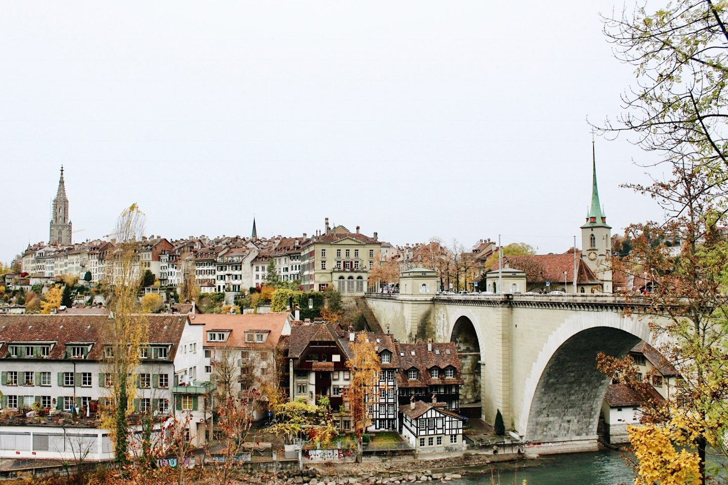 Photo of Bern, Switzerland's old town and river