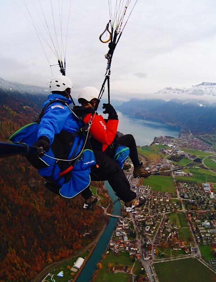Paragliding in Interlaken, Switzerland
