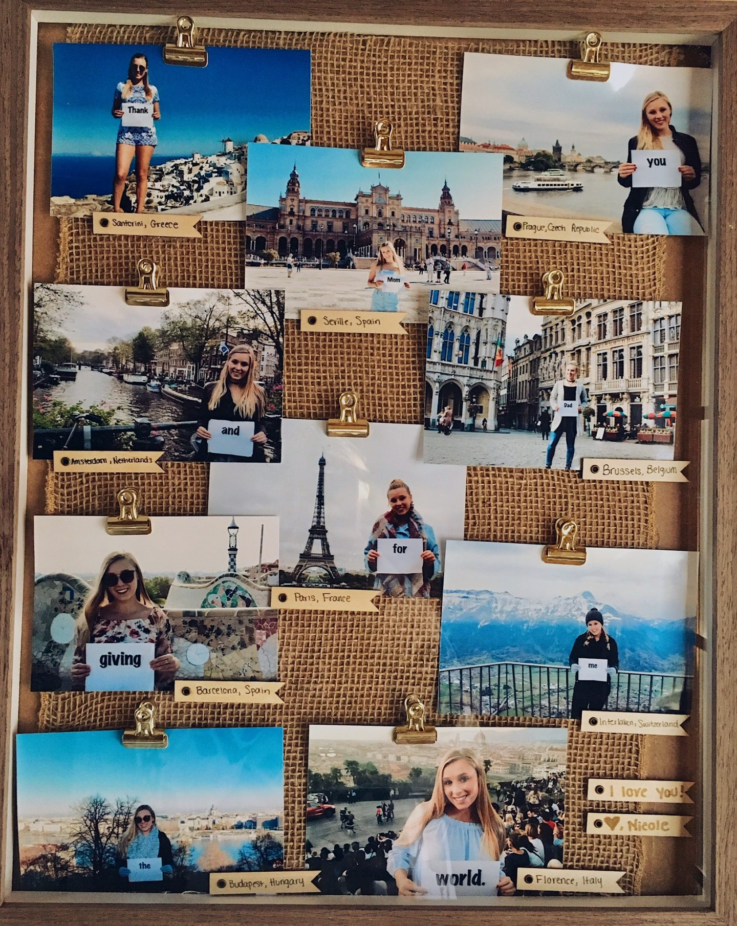 Gifts for travel lovers   Photo collage