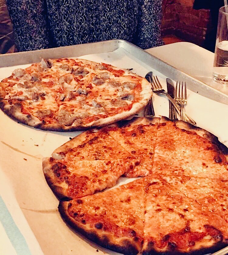 Delicious pizza from New Haven, Connecticut