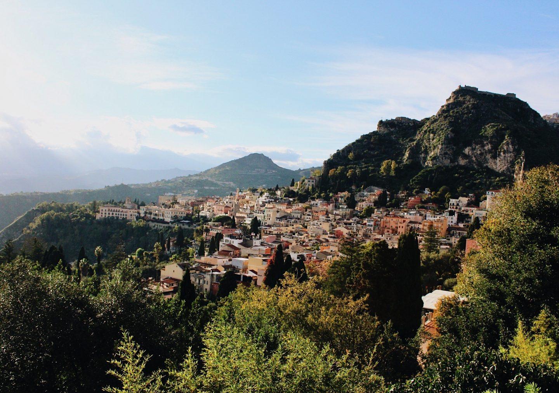Photo looking down to Taormina, Sicily, Italy!