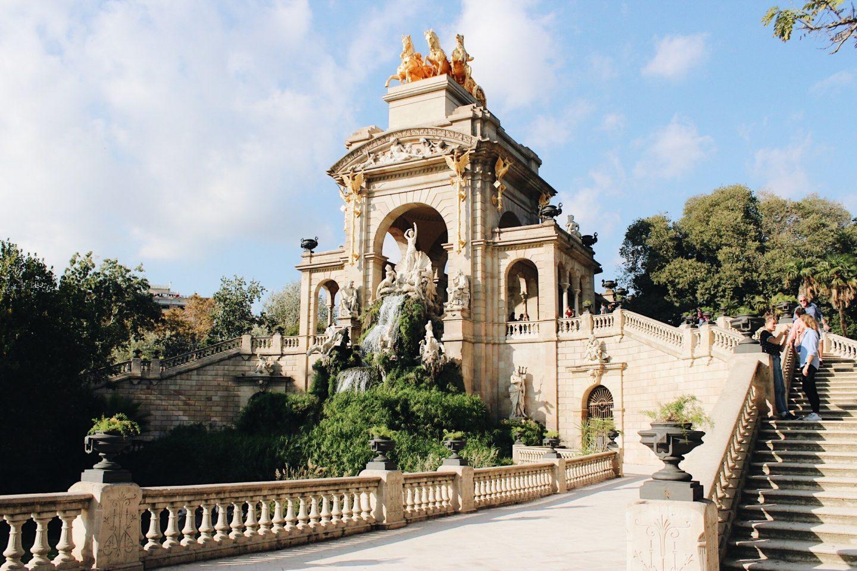 Enjoying the day in Parc de la Ciutadella in Barcelona!