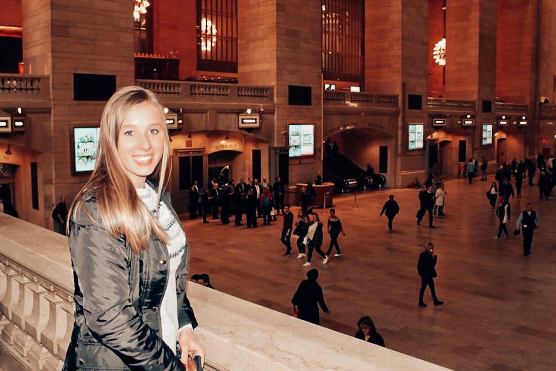 Posing inside Grand Central Terminal