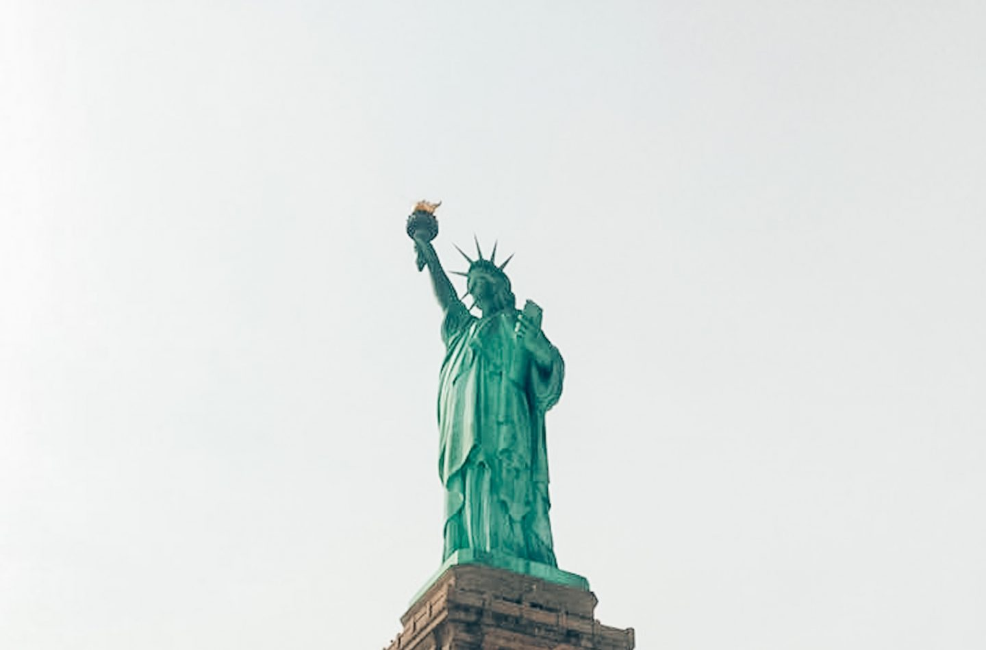 View of the Statue of Liberty from the Hudson River