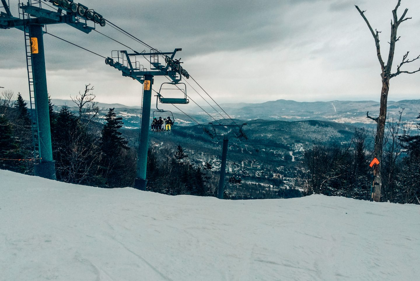 Best ski resorts in New England chairlift