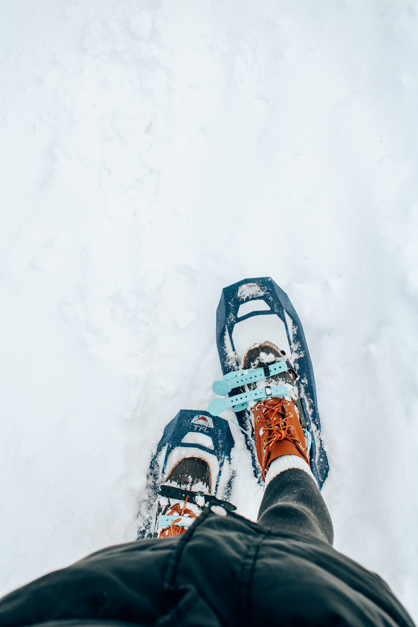 Photo of snowshoes in winter in Stowe