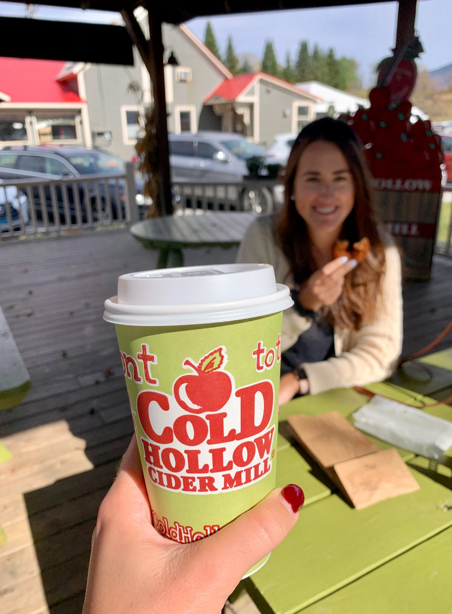 Cold Hollow Cider Farm in the fall in Stowe