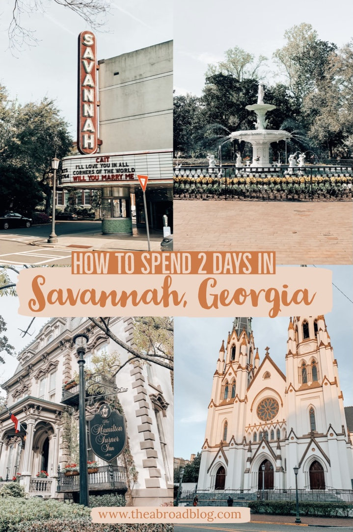 2 days in Savannah pin