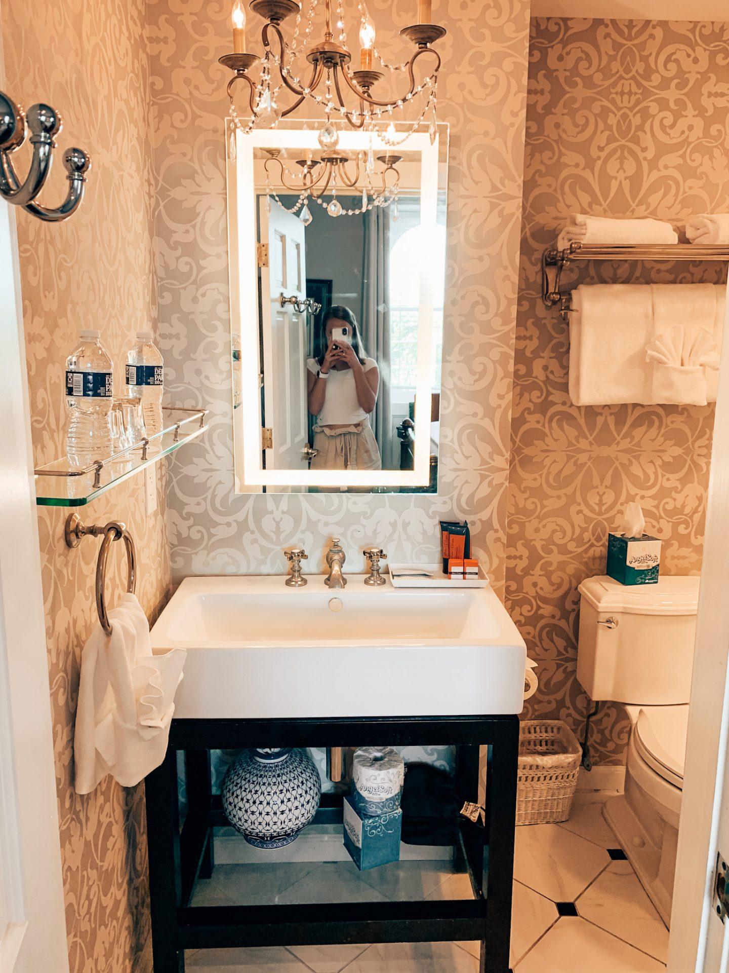 The bathroom at the Hamilton Turner Inn in Savannah, Georgia