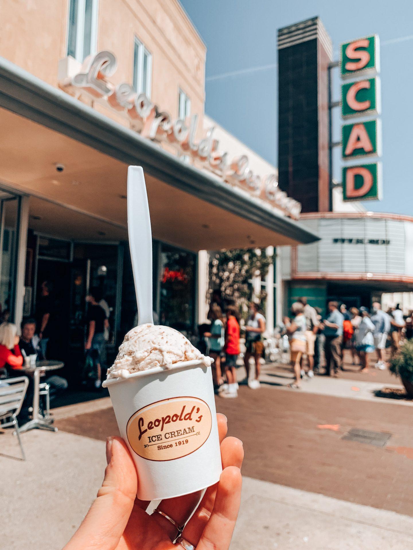 Leopold's Ice Cream during 2 days in Savannah, Georgia