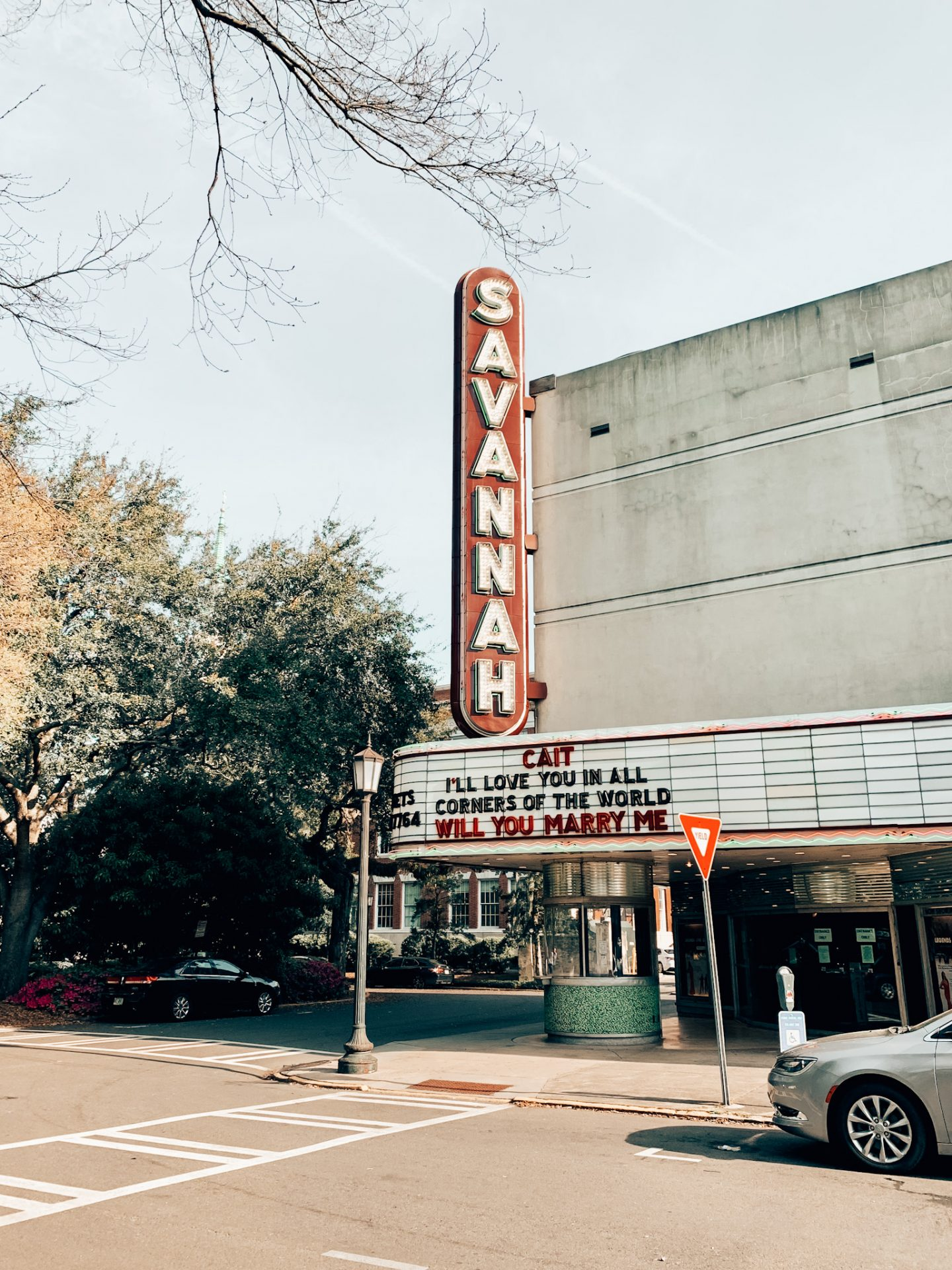 The historic Savannah theater