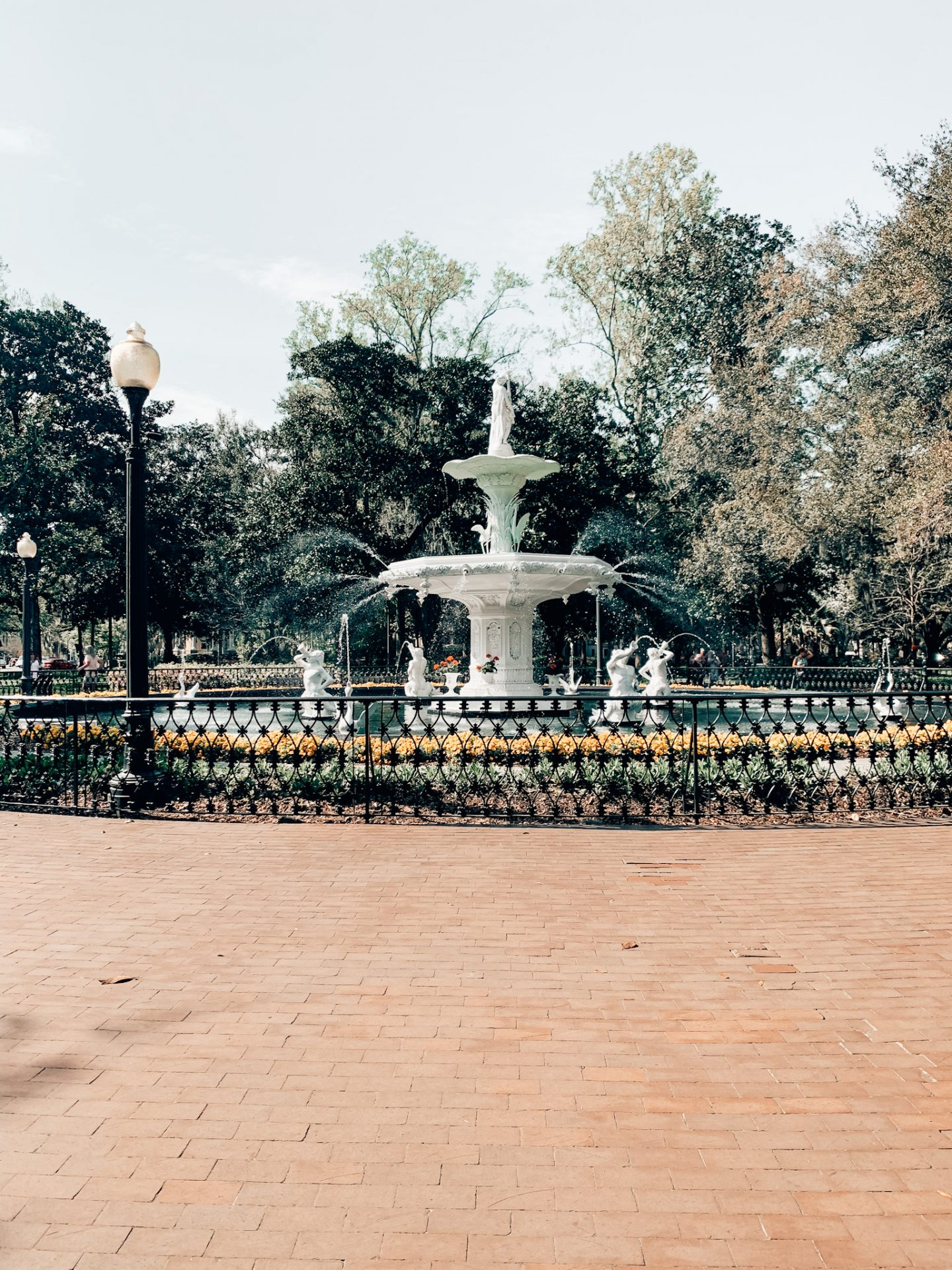 The fountain at Forsyth Park in Savannah, GA