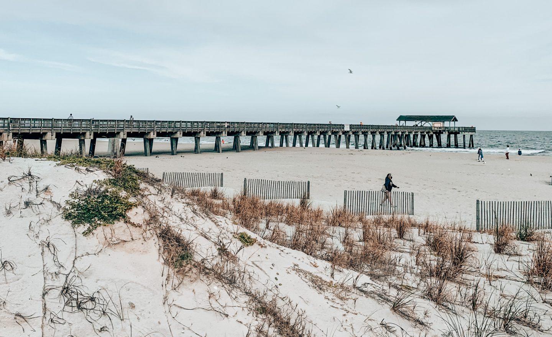 The beach at Tybee Island in Savannah, GA