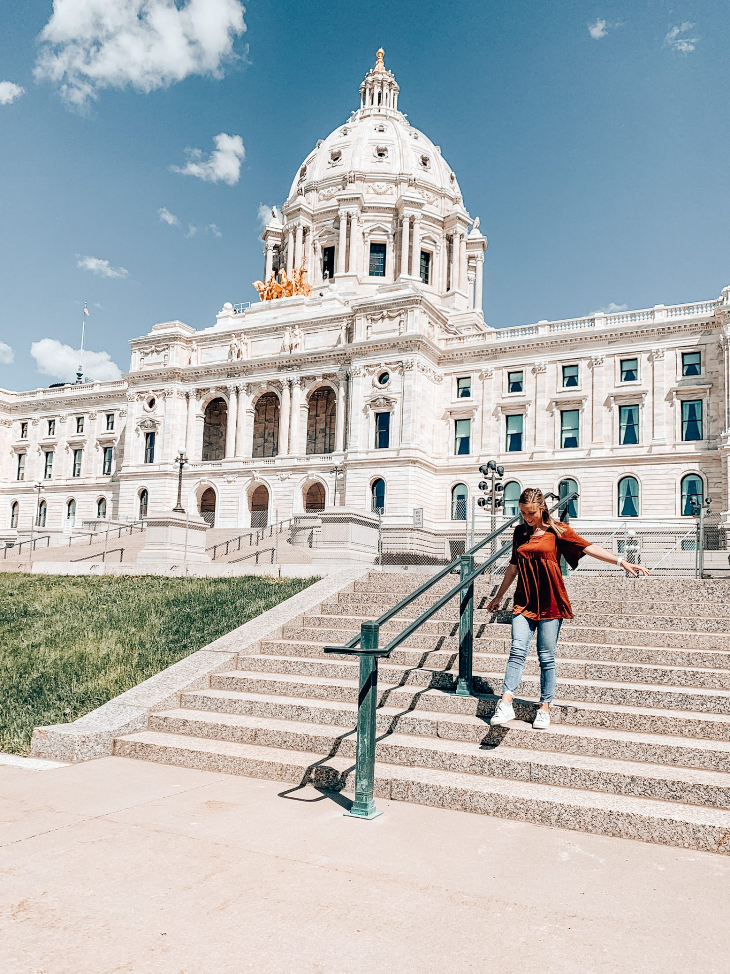 The Capitol Building in downtown St. Paul in Minnesota