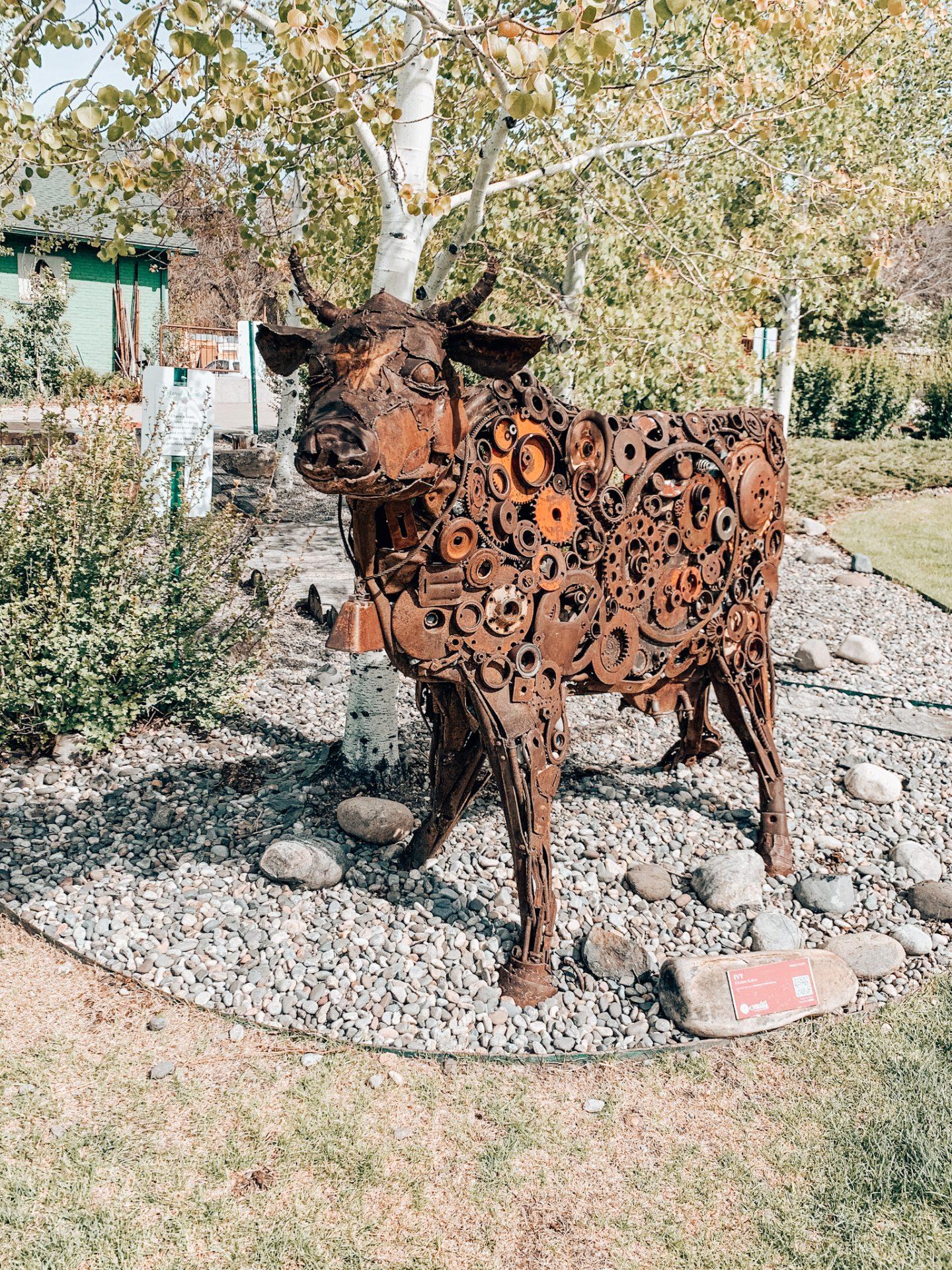 Exploring the sculptures in Bozeman, Montana