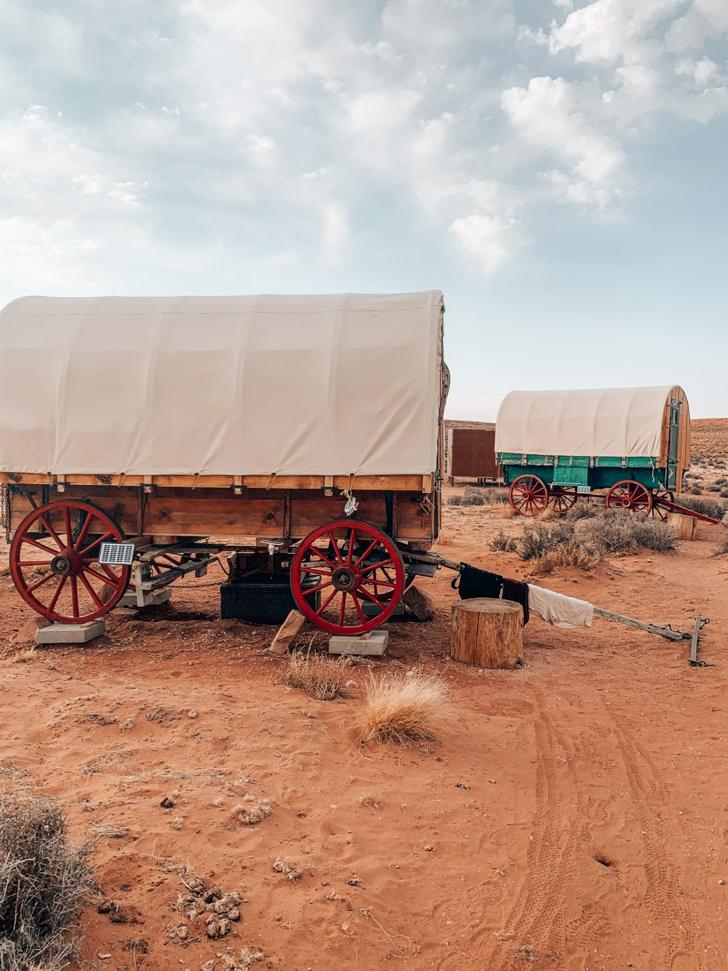 Staying in a wagon is a must on a southwest road trip
