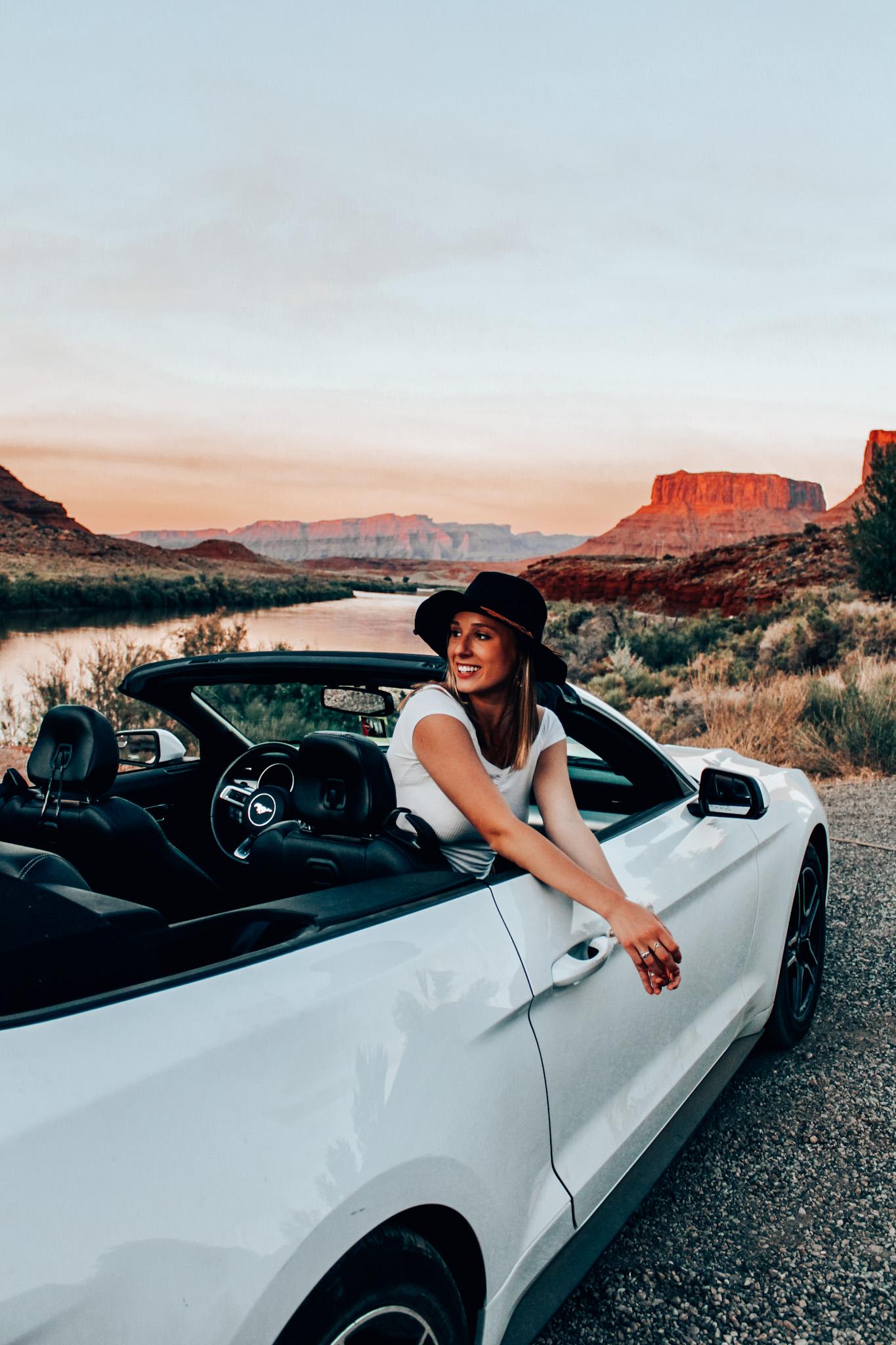 Southwest road trip rental car