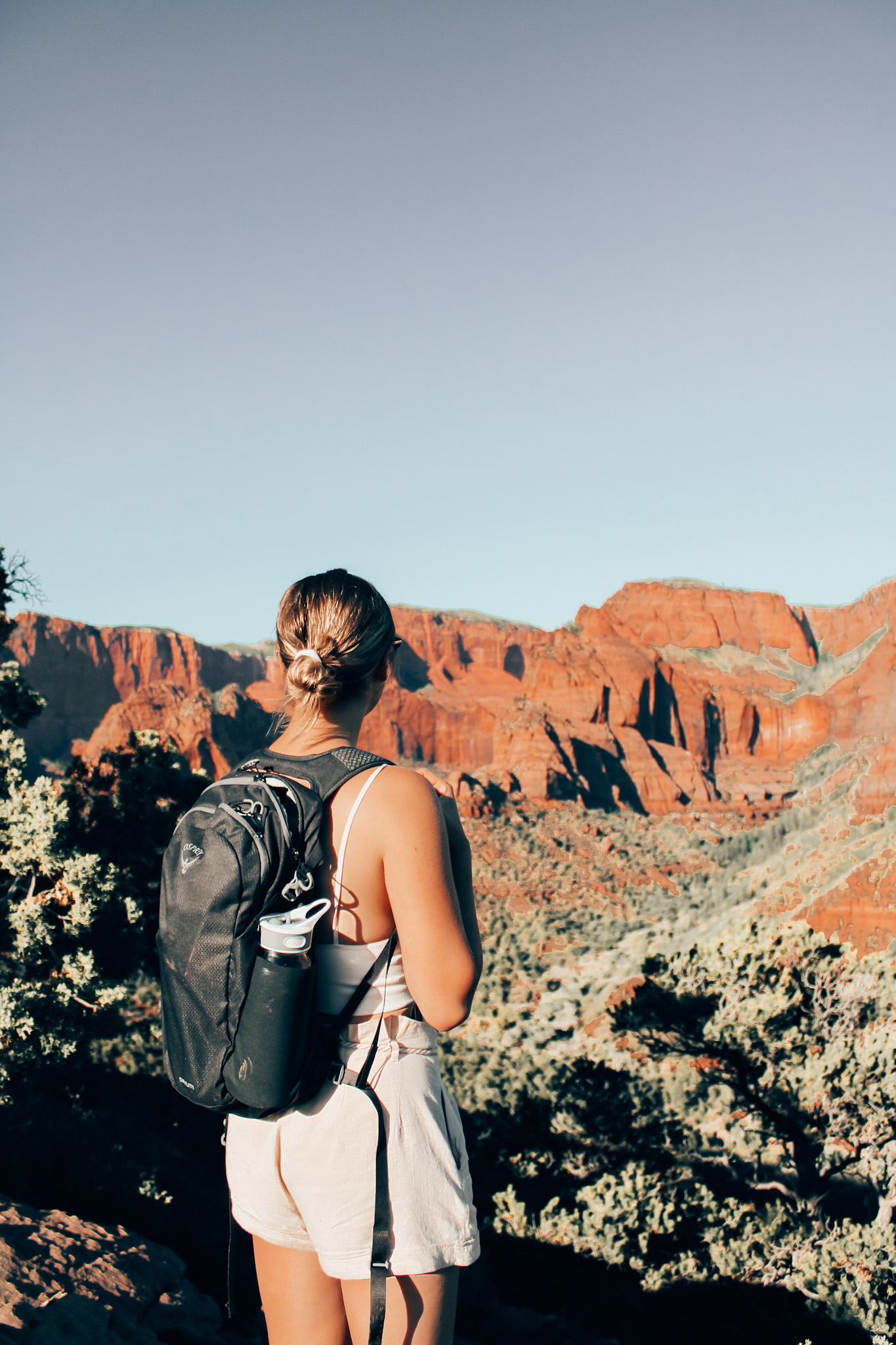 Sunset hike in Zion National Park
