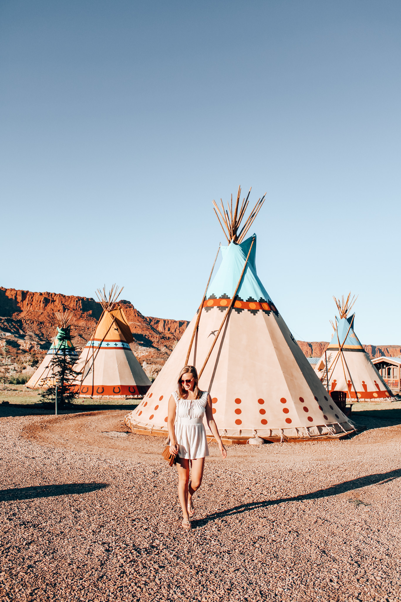 Capitol Reef Resort has teepees, luxury wagons, and private cabins to stay in