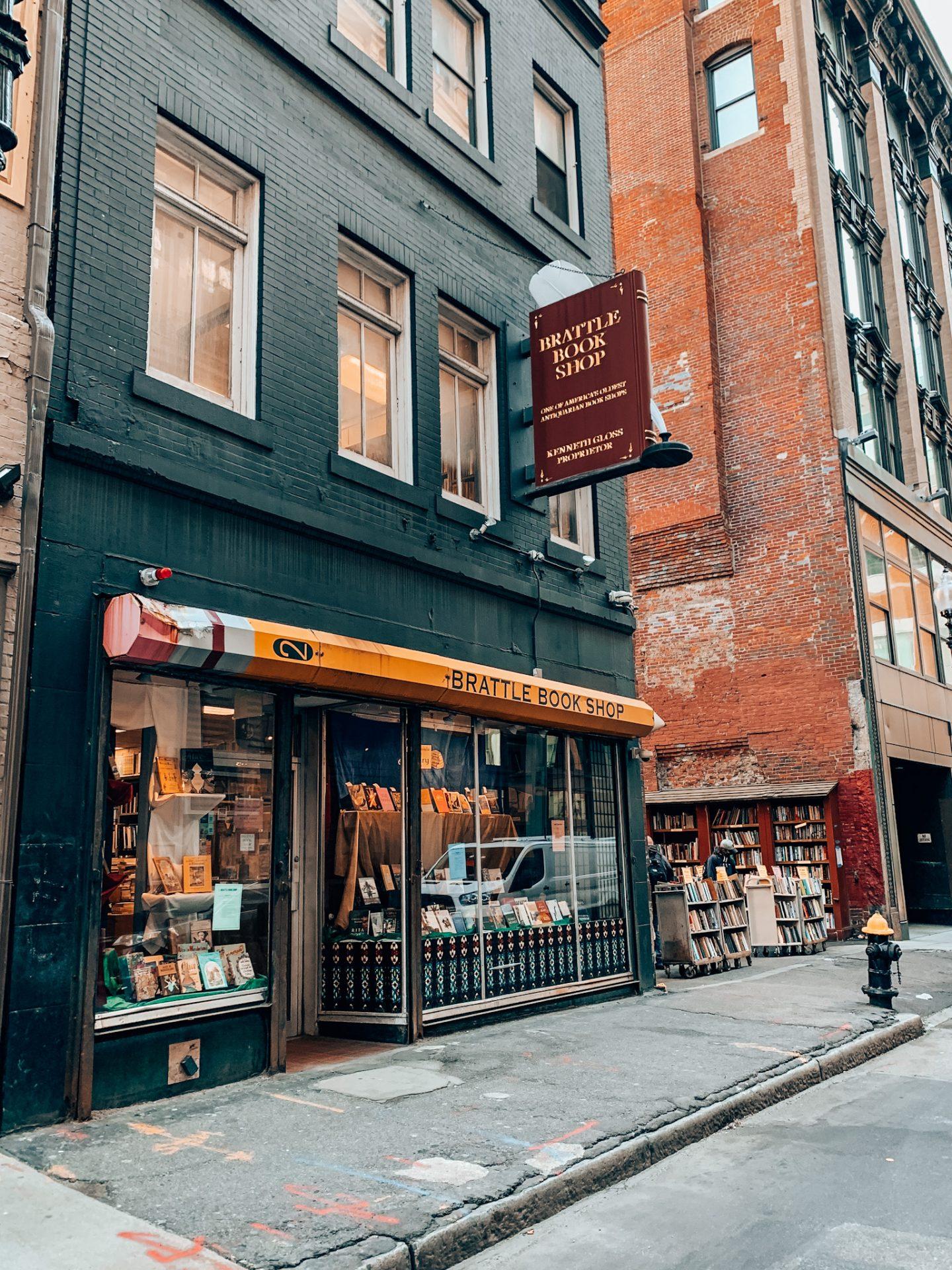 Brattle Bookshop in Boston, MA