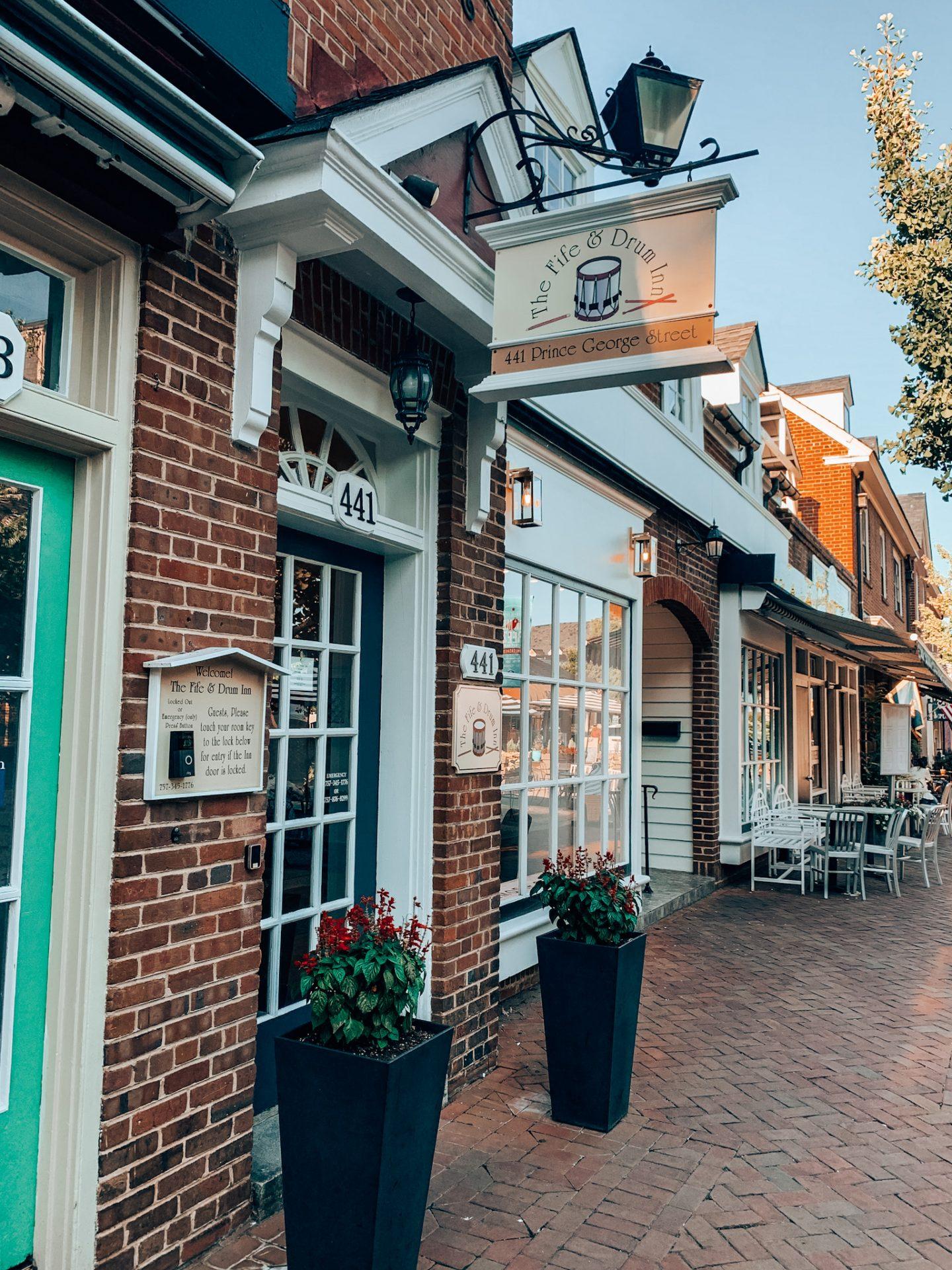 Fife and Drum Inn in Williamsburg, VA