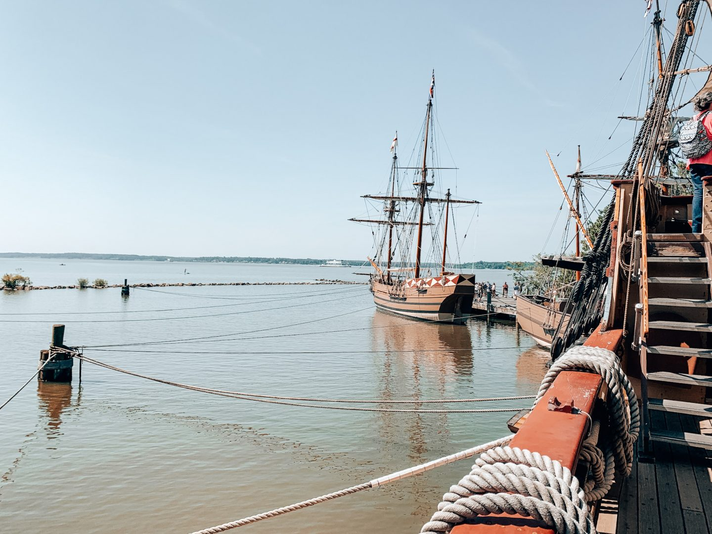 The ships at Jamestown Settlement in Williamsburg, VA