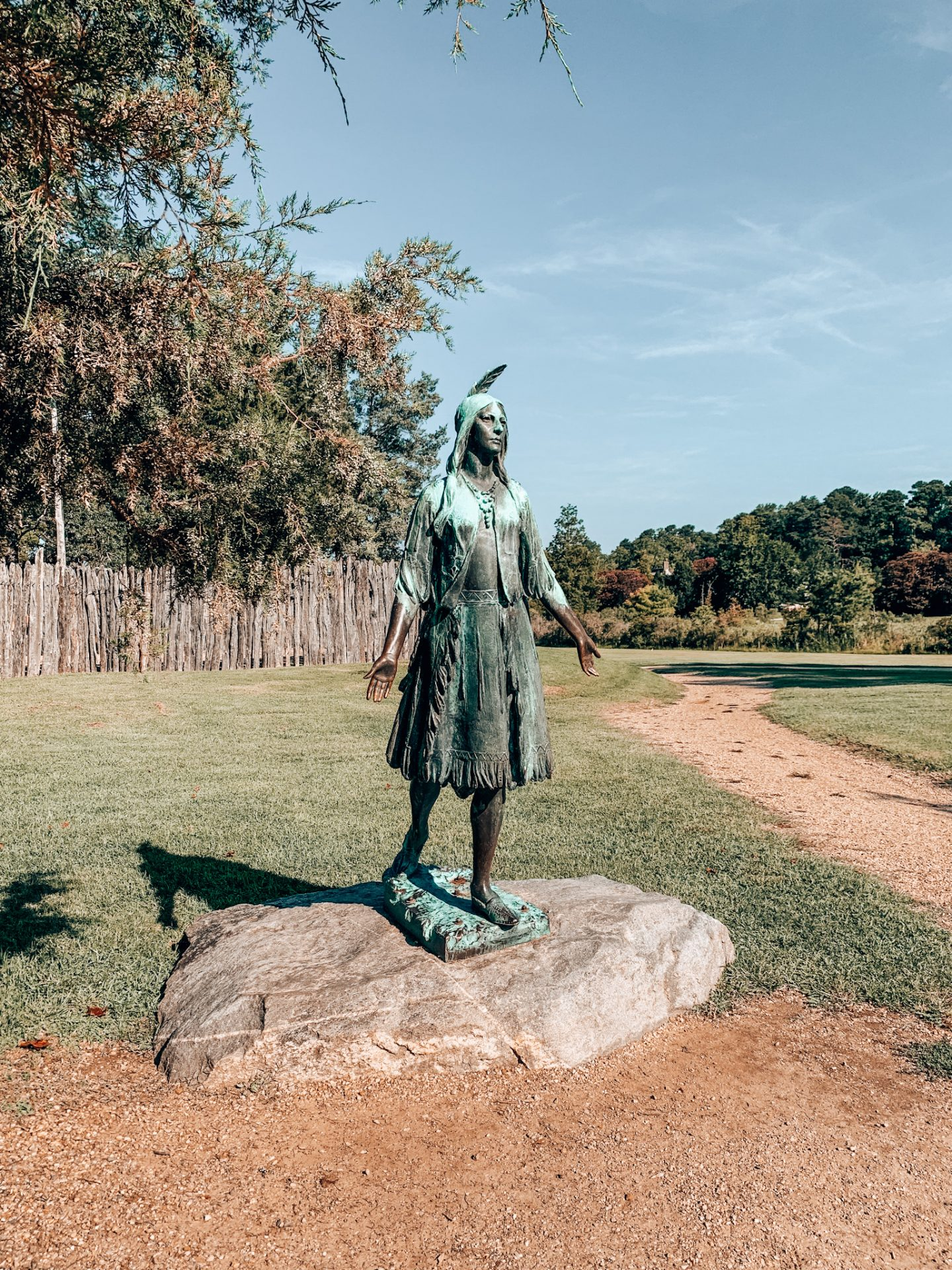 One of the many statues at Historic Jamestowne